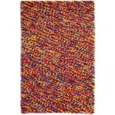 Beans Floor Rug, 100% Wool, Multicoloured