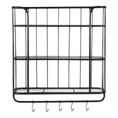 Metal Wall Hanging Shelving Unit, Large
