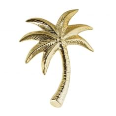 Decorative Stoneware Palm Tree, Gold
