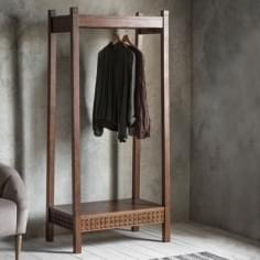 Zephyr Open Wardrobe Rack, Brown