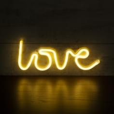 Love LED Neon Sign Wall Light, White