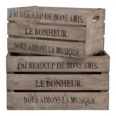 Set Of 2 Vintage Style Fruit Storage Crates