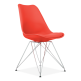 Eames Inspired Red Dining Chair with Eiffel Metal Legs