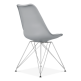 Eames Inspired Dining Chair with Eiffel Metal Legs - Cool Grey