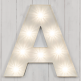 "Marquee Turbo 19"" Letter Lights White - A-Z - Clearance Sale"