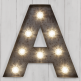 "Marquee Turbo 19"" Letter Lights Rustic - A-Z - Clearance Sale"