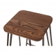 Cult Living Hairpin Stool with Square Wood Seat Option - Rustic 76cm