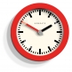 Newgate The Andromeda Wall Clock, Red