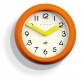 Newgate The Pantry Wall Clock - Orange