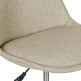 Eames Inspired Beige Upholstered Office Chair With Soft Pad Seat