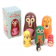 Ingela P Arrhenius Set of Nesting Dolls, Woodland Family