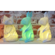 Disaster Designs Geometric LED Rabbit Lamp, White