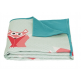 Present Time Fox Geo Forest Blanket Throw, Teal