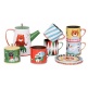 OMM Ingela P Arrhenius Retro Tin Tea Set - Multicoloured