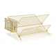Present Time Metal Kitchen Dish Rack - Gold