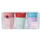 Rice Set of 6 Medium Melamine Cups - Multi-coloured