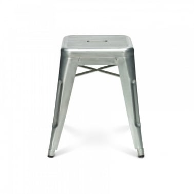 Tolix Style Metal Stool - Galvanised 45cm