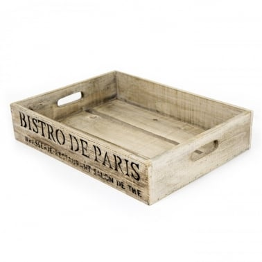 White Bistro De Paris Crate