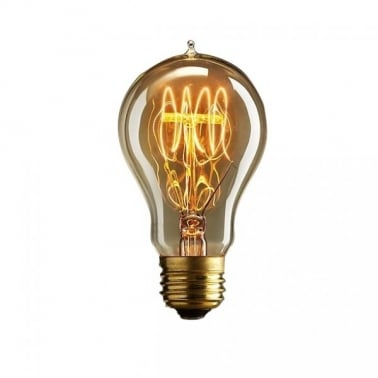 Quad Loop Filament A60 Light Bulb 40W - E27 / B22
