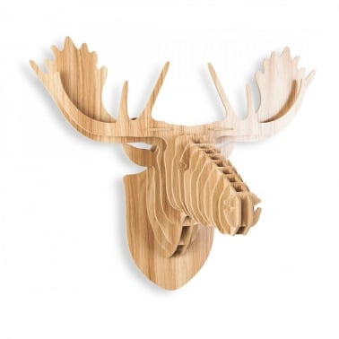 Wood Safari Trophy Animal Head - Moose