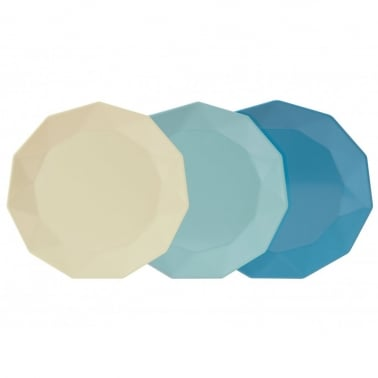 Picnic Plates - Set of 3 - Teals