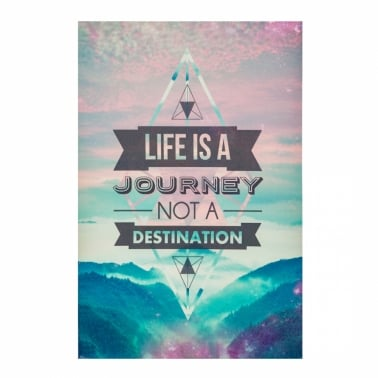 Wall Art Typography Canvas Print, Journey