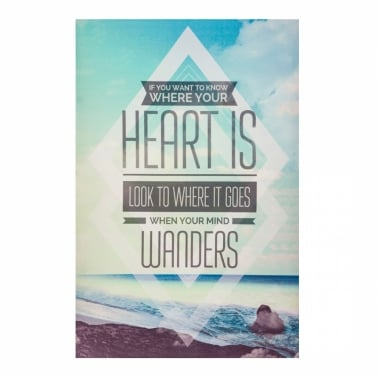 Wall Art Typography Canvas Print, Heart