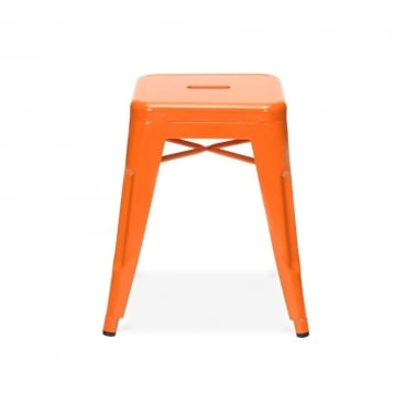 Tolix Stool - Orange 45cm