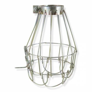 Wire Cage Lamp - Available in Brass or White