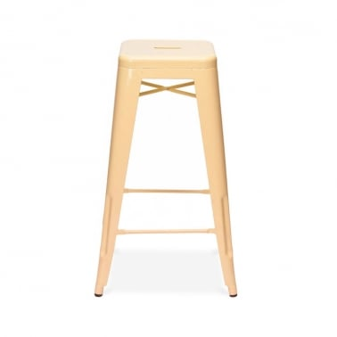 Tolix Style Stool - Peach Powder Coated 75cm
