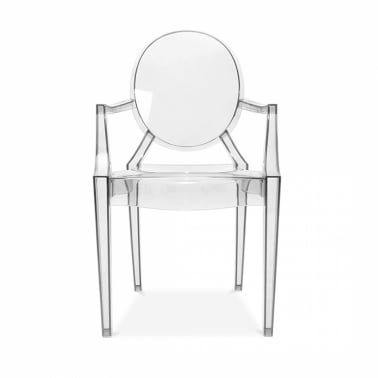 Louis Ghost Armchair - Clear