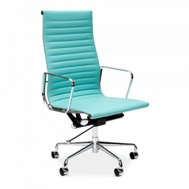 Ribbed Office Chair - Turquoise