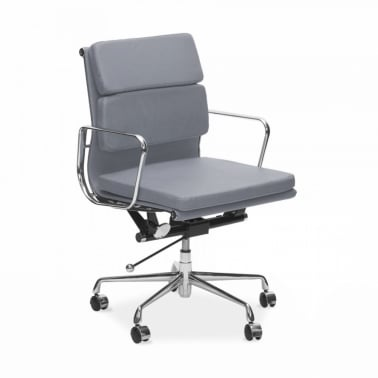 Short Back Soft Pad Executive Office Chair - Grey