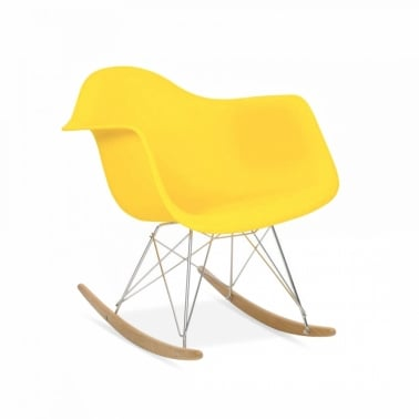 Yellow RAR Rocker Chair