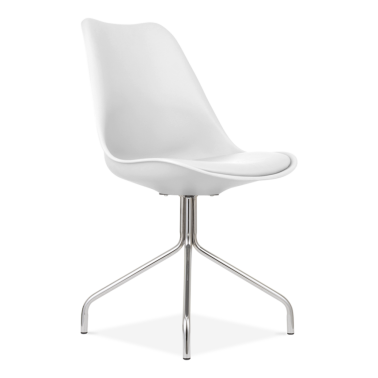 White Dining Chairs With Metal Cross Legs