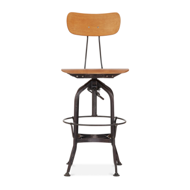 Toledo Style Pump Action Bar Stool - Rustic 64/74cm