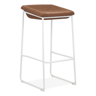 Detroit Stool - White Frame with Seat option 82cm - Clearance Sale