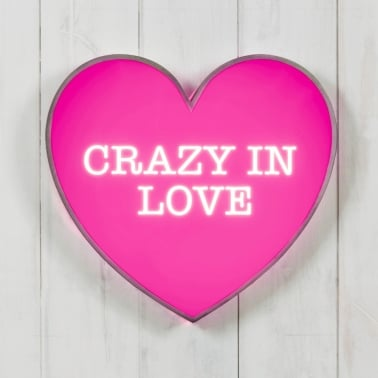 Classic Heart Light Box - Crazy In Love