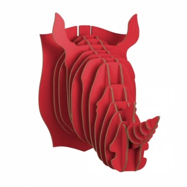 Wood Safari Trophy Animal Head - Rhino