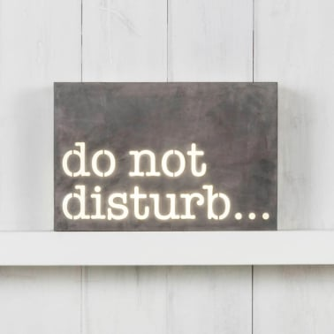 Classic Metal Light Box - Do Not Disturb