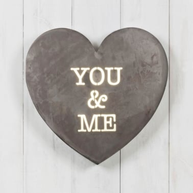 Heart Mini Light Box - You & Me