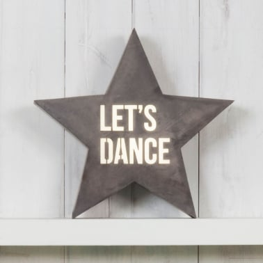"Star Metal Light Box 14""- Let's Dance"