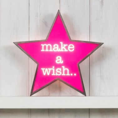 Classic Star Light Box - Make A Wish