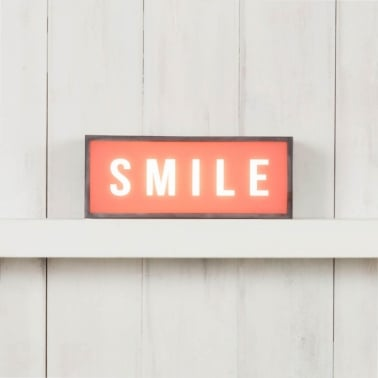 Classic Small Rectangular Light Box - Smile