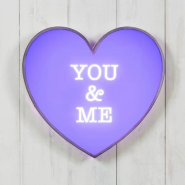 Classic Heart Light Box - You & Me