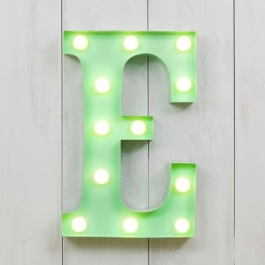 "Metal 11"" Mini L.E.D. Letter Lights E - Choice of Colour"