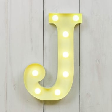 "Metal 11"" Mini L.E.D. Letter Lights J - Choice of Colour"