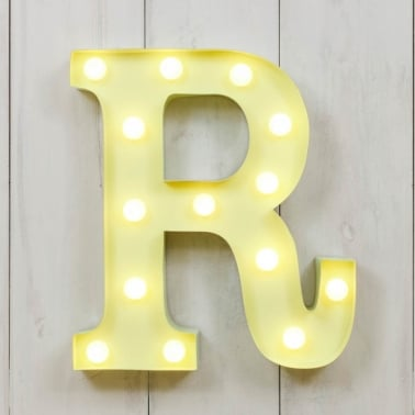 "Metal 11"" Mini L.E.D. Letter Lights R - Choice of Colour"