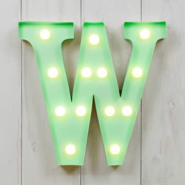 "Metal 11"" Mini L.E.D. Letter Lights W - Choice of Colour"
