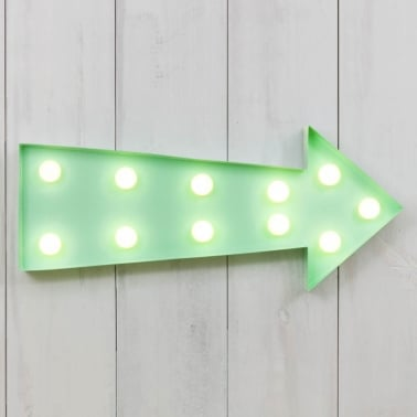 "Metal L.E.D. 16"" Light Up Arrow - Choice of Colours"